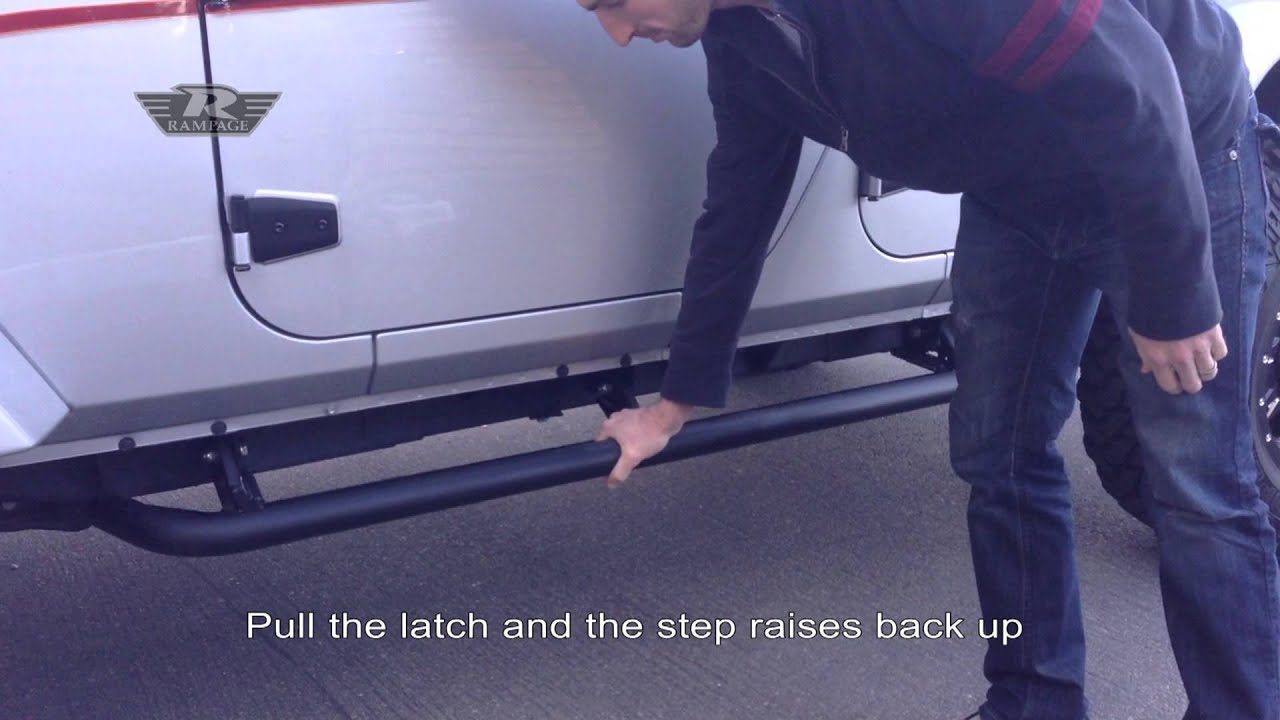 Rampage Jeep Retractable Rockguard Steps Youtube