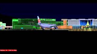 FS2004 China Airlines A330 Landing Taipei Taoyuan