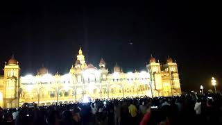 New year celebrations in Mysore palace