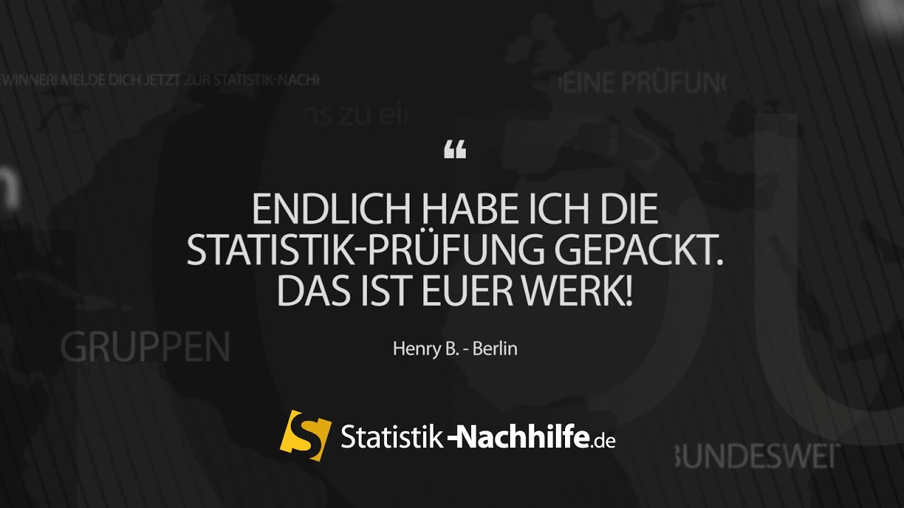 statistik nachhilfe f r studenten hilfe datenanalyse service spss r stata youtube. Black Bedroom Furniture Sets. Home Design Ideas