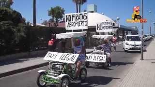 Taxi Streik an der Playa de Palma auf Mallorca