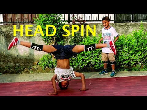 7 Year old Kid Headspin Practice with Brother | Asquare Crew | Abhay & Aayush