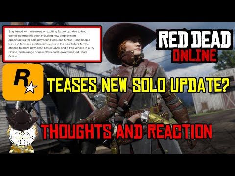 Rockstar Teases New Solo Red Dead Online Update , New Audio Leaks Also Thoughts And Reaction