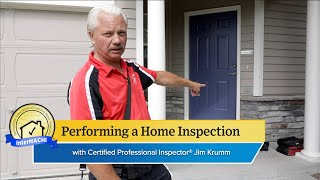 Performing a Home Inspection with InterNACHI® Certified Professional Inspector CPI® Jim Krumm.