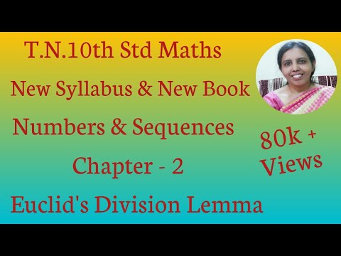 10th Std Maths New Syllabus (T.N) 2019 -2020 Chapter-2 Euclid's Division Lemma.