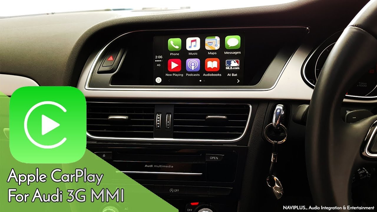 Audi 3G MMi A4 / A5 / Q5 Factory MMi Integrated Apple CarPlay demonstration  - by Naviplus