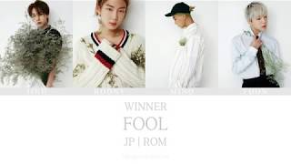 [3.32 MB] WINNER(위너) - FOOL (Japanese ver.) Color coded lyrics [ JP | Rom ]