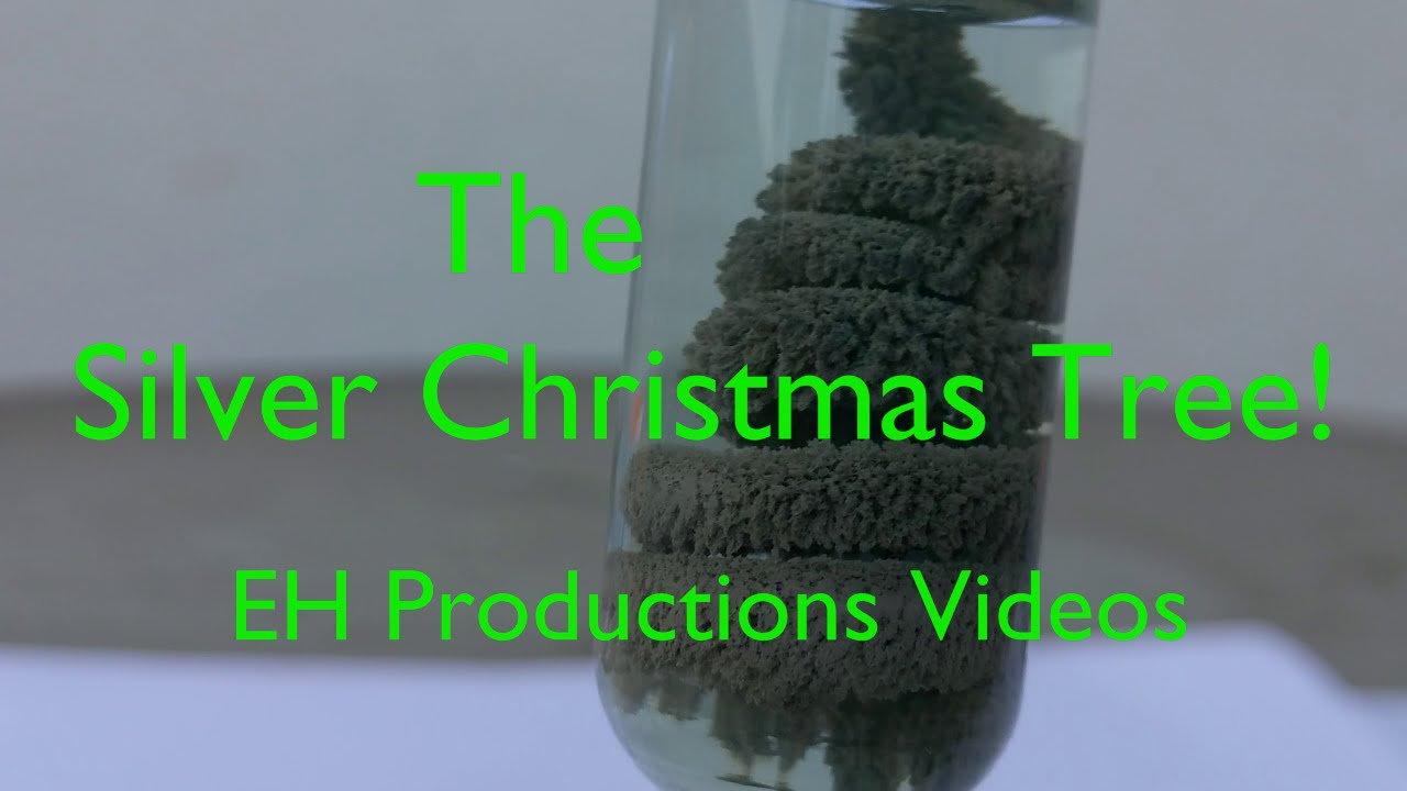 The Silver (Ag) Christmas Tree | Silver Nitrate Tree - YouTube
