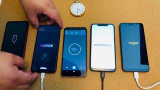 Redmi Note 7 vs Honor V20 vs Nokia 8.1 vs Pocophone F1 - Charge Test!