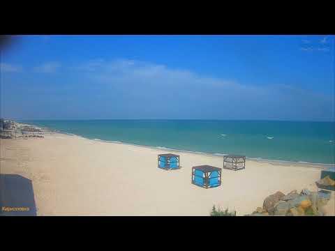 Обзор пляжей.  4 июня.  Азовское море.  Веб-камеры.