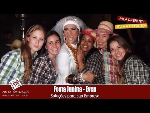 Ações Motivacionais e Endomarketing - Festa Junina - Na festa da EVEN uma noiva pra lá de especial