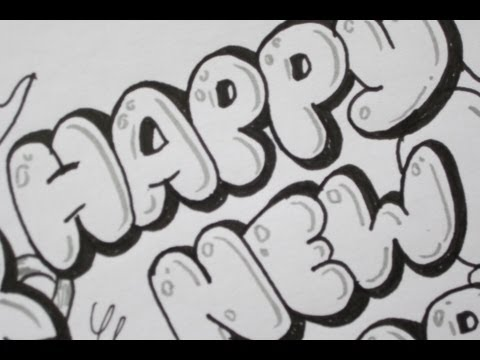 How To Write Happy New Year In Bubble Letters