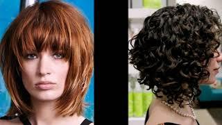 видео Каскад с челкой: несколько вариантов на волосы разной длины.