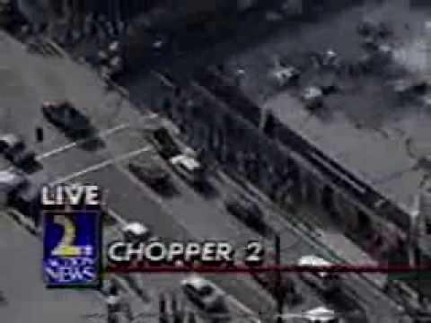 LA Riots looters ram trucks into buildings
