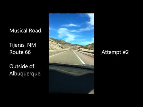 New Yorkers find musical road in Tijeras New Mexico Route 66