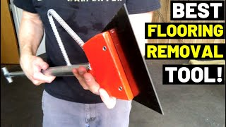 This Is The BEST TOOL For Glued-Down Flooring! (Carpet Removal/Floor Adhesive Removal)