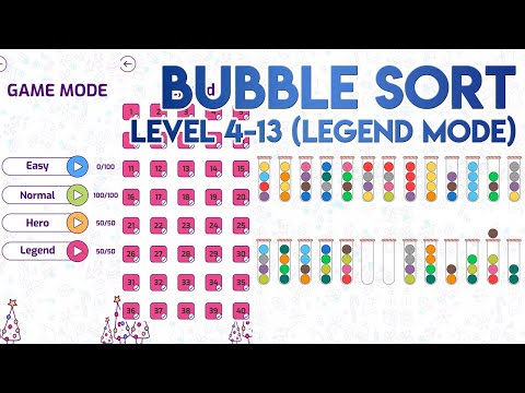 Bubble Sort 4-13 Solution Of Level 13 In Legend Mode [SOLVED]