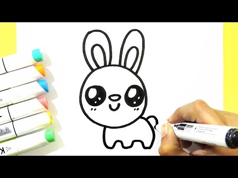 How To Draw A Bunny Rabbit CUTE - Easy