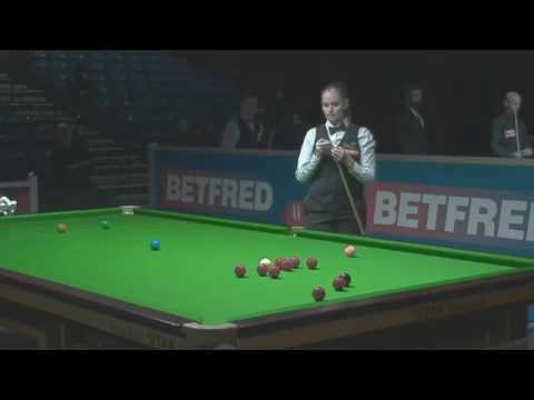 Snooker. World Championship Qualifiers 2017. Robin Hull - Reanne Evans.