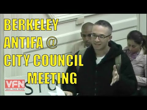 Berkeley ANTIFA PISSED at City Council Meeting