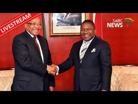 President Zuma and Filipe Nyusi address the business forum