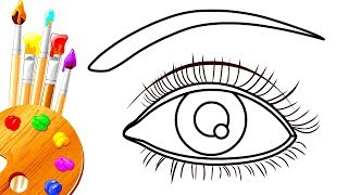 How to Draw Proper Realistic Eyes Easy Step by Step | Art Drawing Coloring Pages For Kids