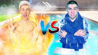 HOT vs COLD Pool Challenge !