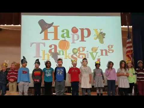 Maya 11/21/2017 Thanksgiving at Henry E Warren Elementary School