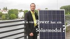 Wie viel Power hat ein Solarmodul?