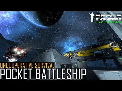 Space Engineers: Let Loose the Pocket Battleship - Uncooperative Survival (Planetary PvE Scenario)