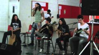 Banda Insane Mind tocando acústica a música Remember You - Skid Row acústica