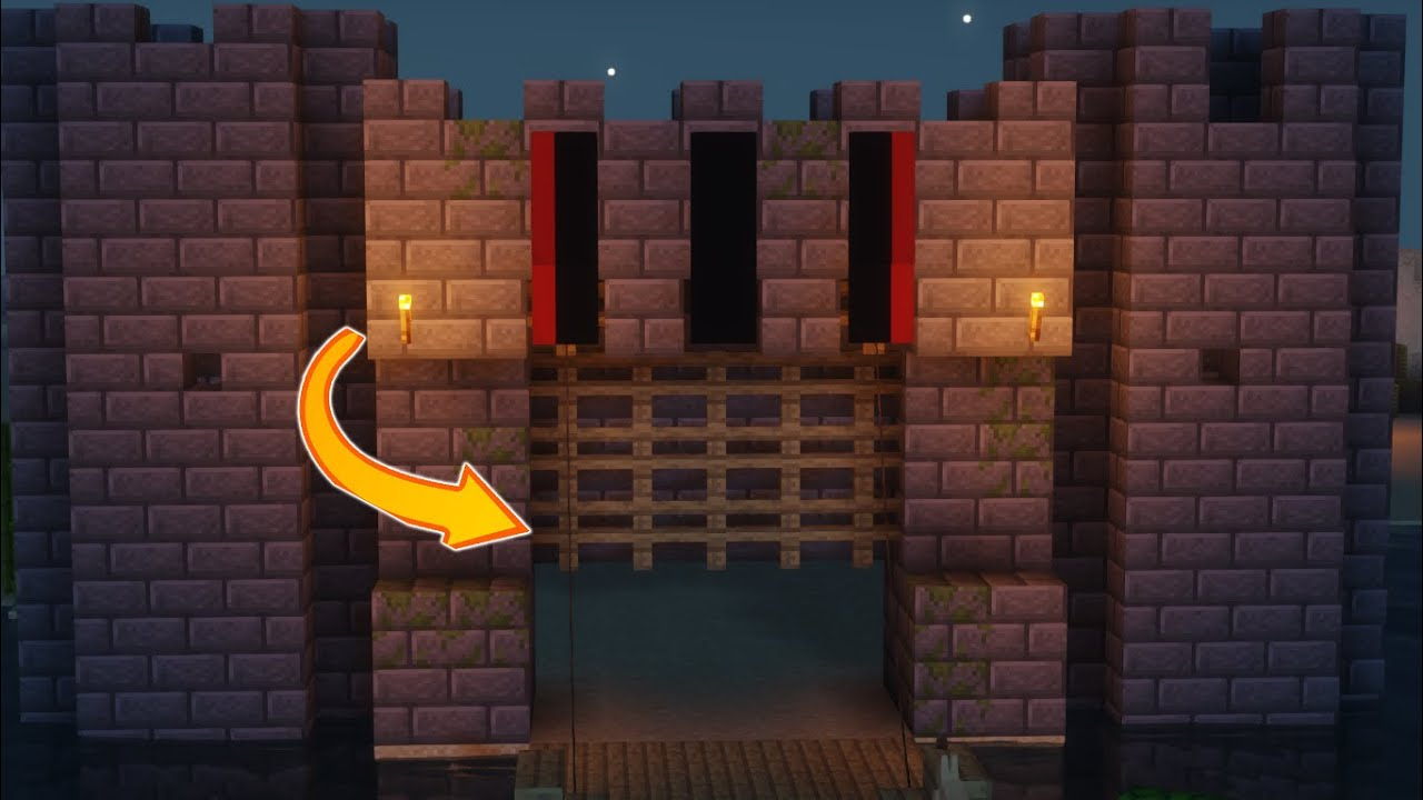 Minecraft: How to Make Castle Gate