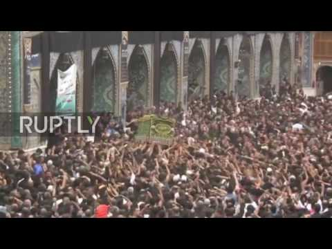 Iraq: Shiite worshippers commemorate Imam Moussa al-Kadhim in Baghdad