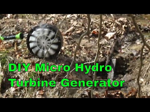 Easy to Build Water Turbine Generator From Junk