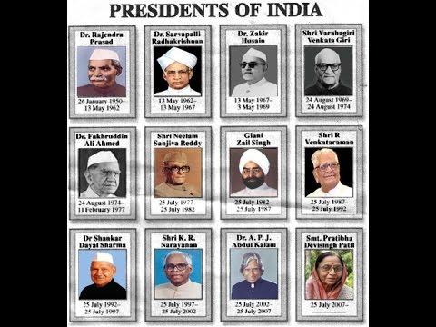 Presidents Of India Youtube