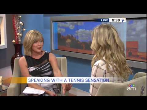 Genie Bouchard Canada AM Interview November 12 2014