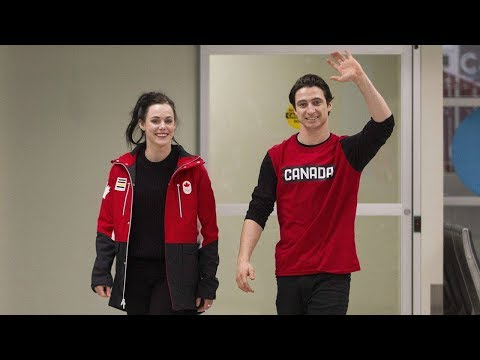 Tessa Virtue & Scott Moir plan for some family time after welcome home
