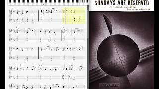 Sundays are Reserved by Billy Kyle (1937, Jazz piano)