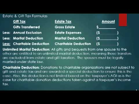 Introduction to Estate & Gift Taxation Class