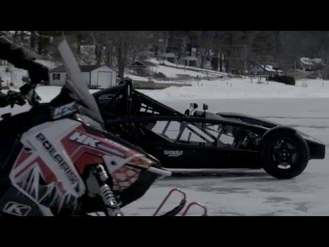 Ariel Atom Vs Snowmobile