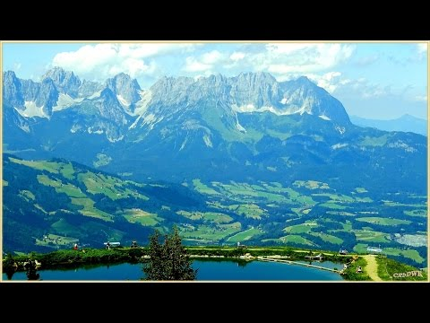 KITZBÜHEL - BERGBAHNEN; Alpen Panorama, Hahnenkamm, Fleckalm,