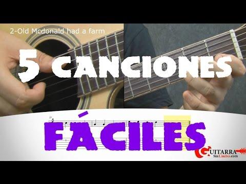 5 canciones fáciles para guitarra