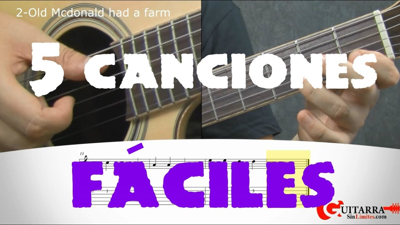 5 Canciones Fáciles Para Guitarra Youtube