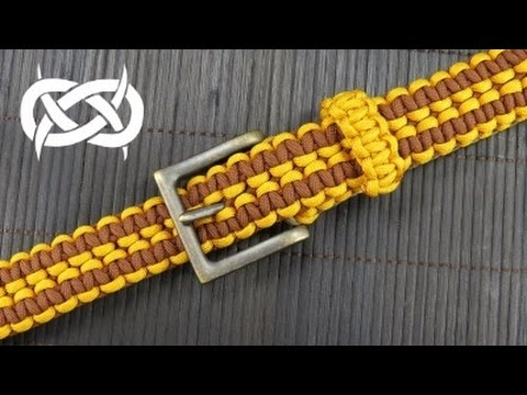 How to make a wide solomon paracord belt youtube for How to make a belt out of paracord