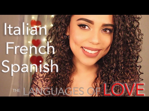 Valentines Day ASMR ~ Whispering in ITALIAN, FRENCH and SPANISH + Eating Chocolates ~