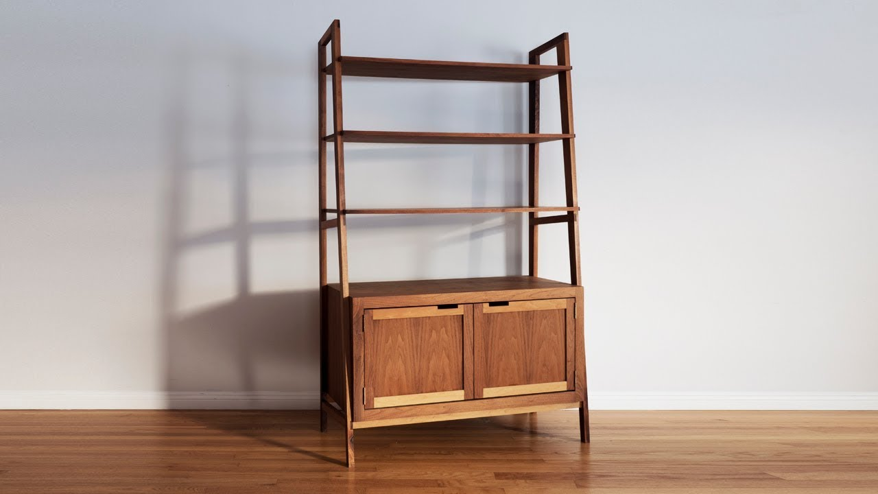 How To Make A Mid Century Modern Bookcase | Woodworking ...
