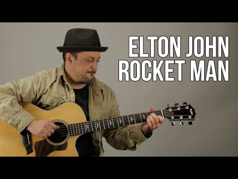 Elton John - Rocket Man - Guitar Lesson - How To Play Acoustic Easy Songs On Guitar