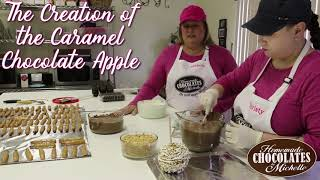 The Creation of the Gourmet Caramel Chocolate Apple at Homemade Chocolates by Michelle