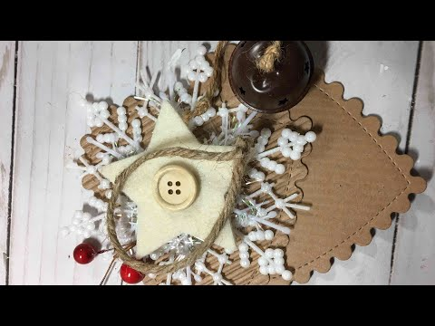 Rustic Christmas Ornament 2017 🎄- Scalloped Heart with snow flake Ornament DIY