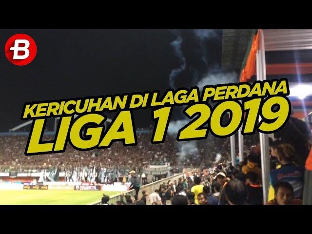 Kerusuhan di Laga Perdana Liga 1 2019 antara PSS Sleman Vs Arema FC, Rabu (15/5/2019)
